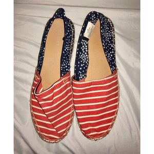 Size 8 Stars Stripes Espadrilles Red white blue